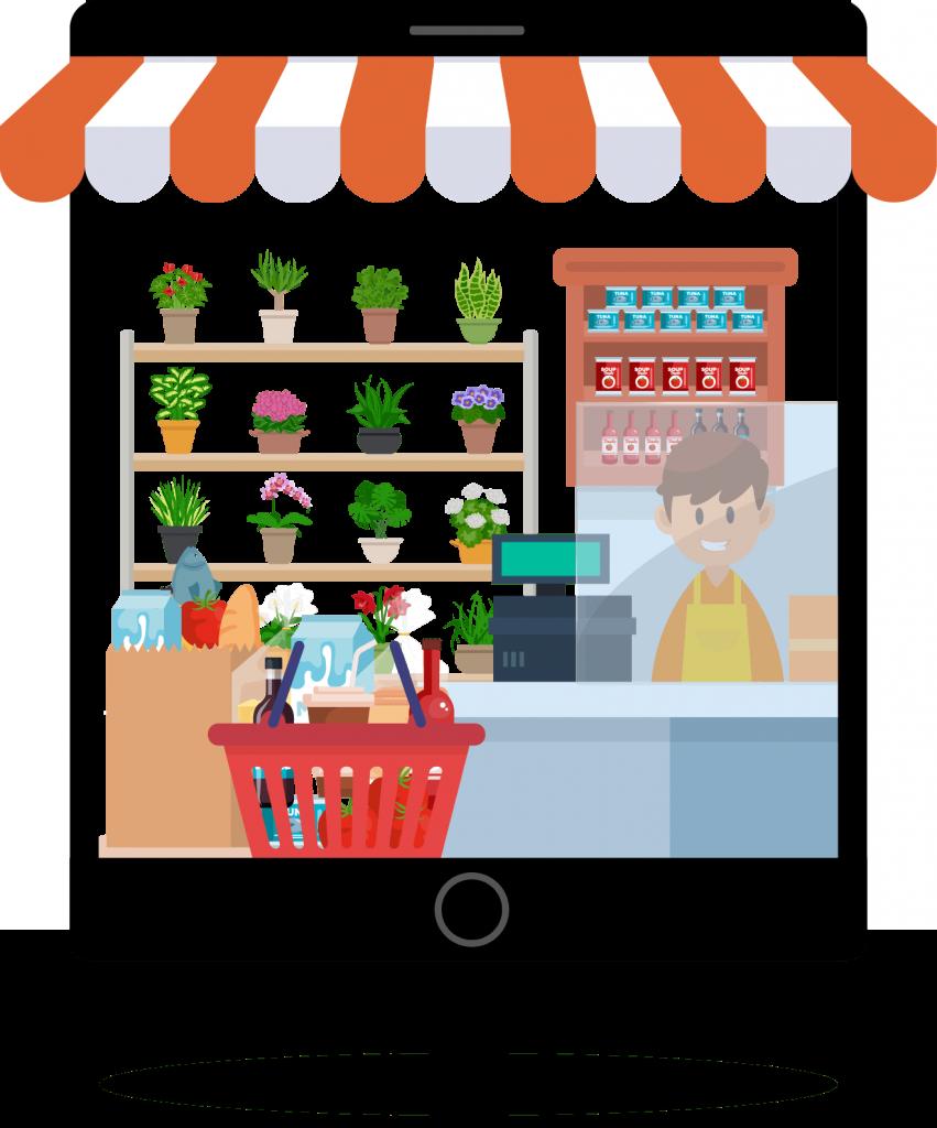 Lokale ondernemer online
